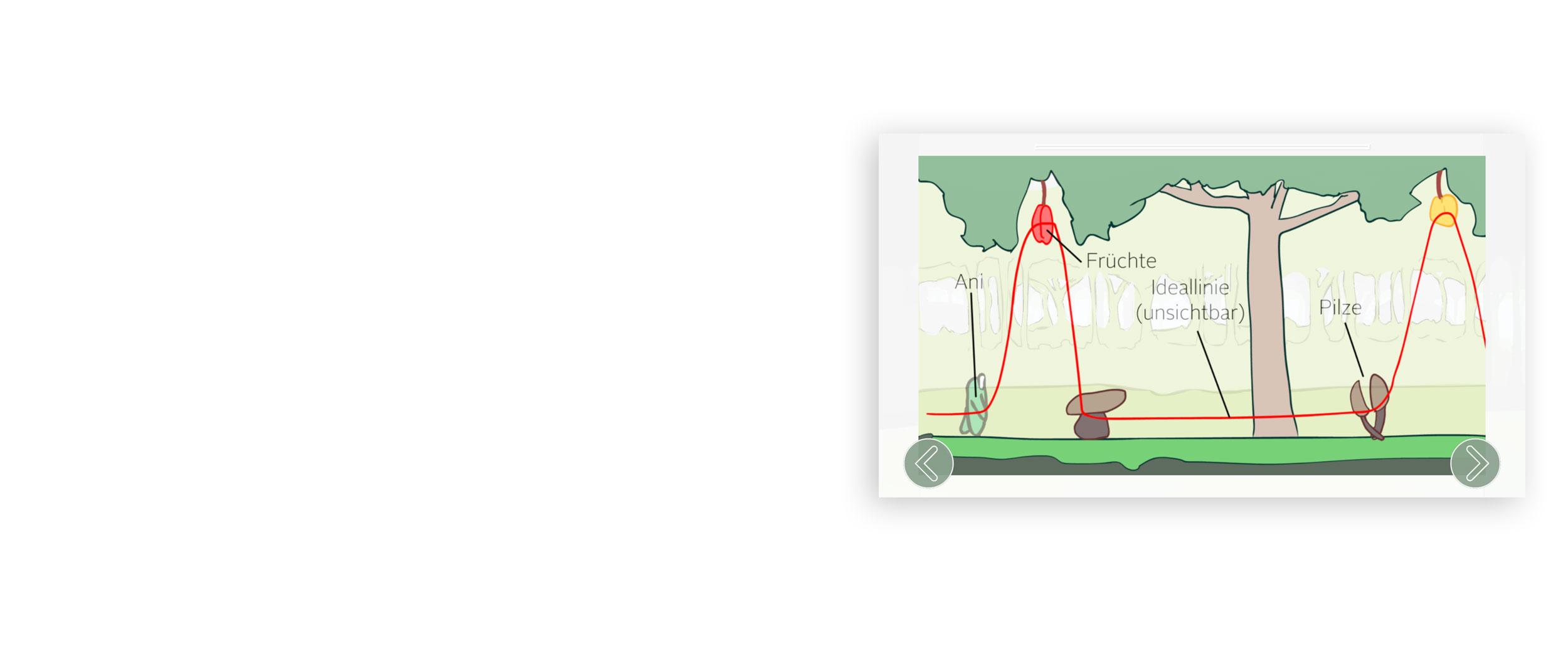 Screenshot aus der App von ACTICORE. Erklärung des Spielablaufs.